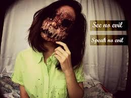 evil halloween makeup see no evil speak no evil halloween sfx makeup youtube