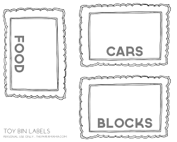 free printable storage labels