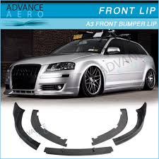 06 audi a3 for 06 07 08 09 audi a3 vortex style front bumper lip poly