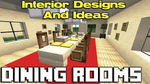 minecraft dining room designs youtube