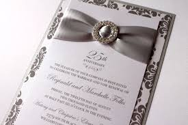 silver and white invitations embellished paperie blog 25th anniversary invitations silver