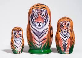 tiger nesting doll