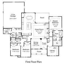 first floor plan of craftsman ranch drop a bedroom house