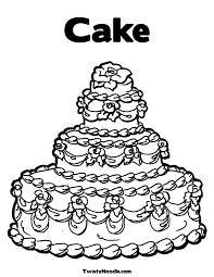 cake coloring kids coloring