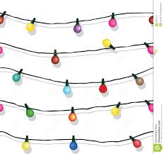 Hanging Christmas Lights by Seamless String Of Christmas Lights Isolated On White Stock