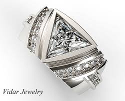 pyramid wedding band one carat triangle cut diamond wedding band for mens vidar