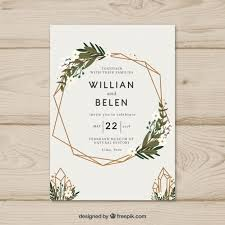 wedding invitation pictures simple wedding invitation with a wreath vector free