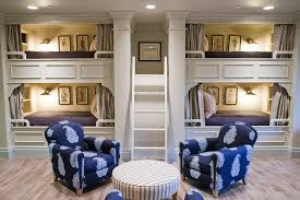 Bunk Beds Built Into Wall Built In Bunk Bed Ideas Style With Nautical Wall