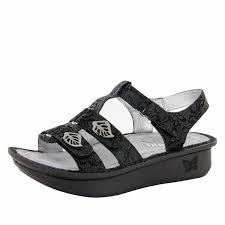 Comfort Sandals For Women Alegria Kleo Black Leaf Sandal The Original Alegria Shoe Shop