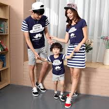 2016 mother and daughter dresses family matching clothes father