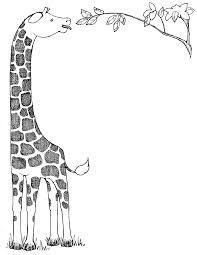 black and white giraffe clipart clipartxtras