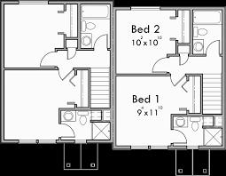 Floor Plans For Duplex Houses Duplex House Plans Small Duplex House Plans Narrow D 501