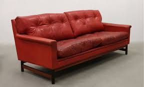 Small Leather Sofas Small Red Leather Sofa And Armchair Seating Apollo Antiques