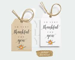 thankful for you favor tag thanksgiving gift tag fall