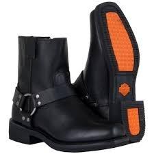 harley davidson s boots size 11 harley davidson el paso d94422 black harness mens zipper zip boot