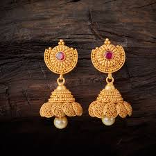 gold jhumka earrings design gold jhumka designs with weight and price gold indian jewelry