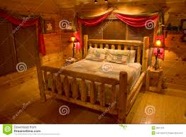 bedroom in luxury log cabin royalty free stock photos image 3891318