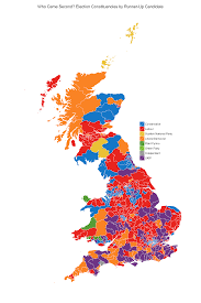 Map Election by Who Came Second In The Uk Election