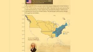 Map Of United States 1820 by The History Of The Us Tableau Public