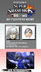 Cruz Meme - soma cruz super smash bros mii fighter meme by samu9 on deviantart