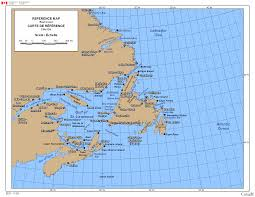 map canada east coast map of the east coast canada major tourist attractions