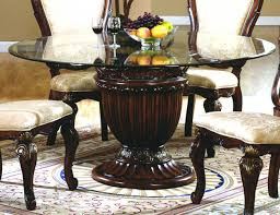 Round Glass Top Dining Room Tables Glass Top Pedestal Dining Table