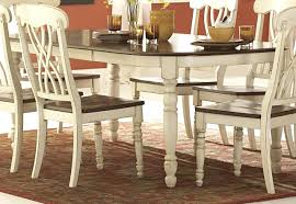 antique white dining table chairs room furniture halyn formal set