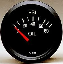 vdo 80psi oil pressure gauge cockpit black face 2 1 16