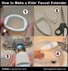 kitchen faucet extender diy faucet extender vychytávky kuchyň faucet