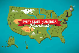 map usa states 50 states with cities ranking all 50 usa states from best to worst best state in