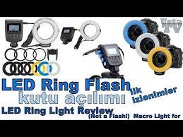 neewer macro ring led light led ring flash kutu açılımı ilk izlenimler neewer 48 macro led