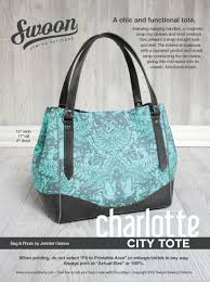 charlotte city tote swoon sewing patterns