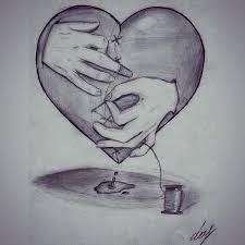 heart art drawing pencil on instagram