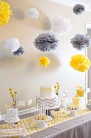 yellow and gray baby shower a modern chic elephant baby shower with yellow gray and white