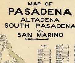 pasadena ca map map of pasadena california 1920 maps and vintage prints