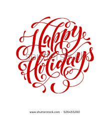 happy holidays script stock images royalty free images vectors