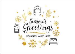 hotel icons christmas cards customized for your business