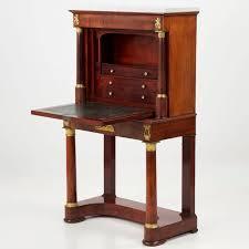 Secretary Desk Very Fine Empire Mahogany Secretaire Abattant Writing Desk 19th