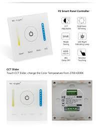 led strip light controller p2 led smart panel controller for color temperature led strip