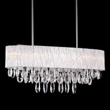 Glass Shade Chandelier 10 Bulb Oval Drum Ribbed Glass Shade Pendant Lighting Crystal