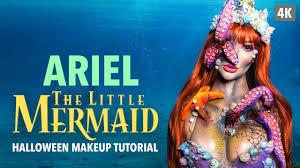 ariel the little mermaid halloween makeup tutorial youtube