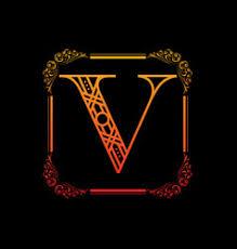 floral letter v ornament font royalty free vector image