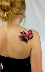 3d for the modern age butterfly tattoos on back