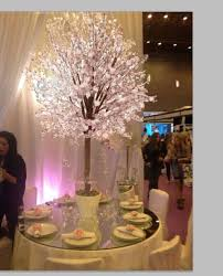 high quantity white wood tree artificial cherry blossom tree for