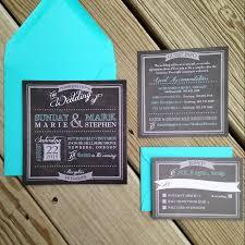 teal wedding invitations chalkboard wedding invitation chalk wedding invitation rustic