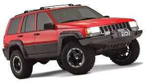 monster jeep cherokee jeep cut out fender flare set of 4 oe matte black 10916 07