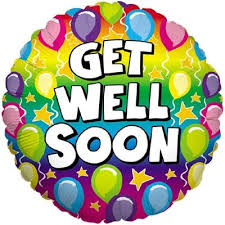 get well soon for children rainbow balloons get well soon 18 foil balloon in a box