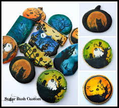 Halloween Silhouette Painted Cookies Cookie Connection