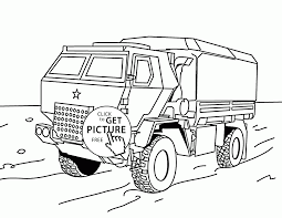 military truck coloring page for kids transportation coloring