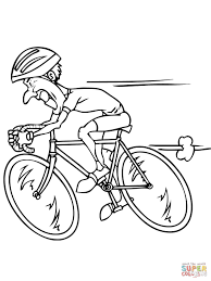 cycling coloring pages free coloring pages